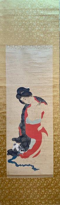 【阿鴻之寶】明治時期 美女圖 畫功精細