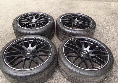 【YGAUTO】二手時間 正品 德國 BENZ 賓士 W204 W205 二手 AMG C63S 鍛造鋁圈含倍耐力輪胎