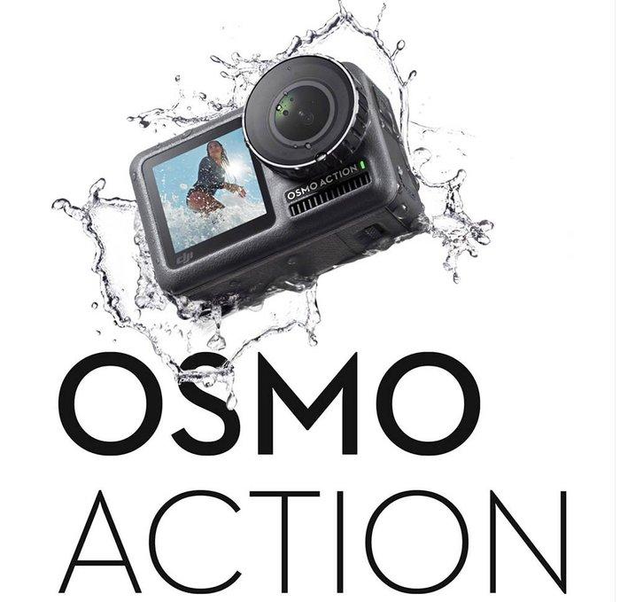 呈現攝影-DJI Osmo Action 4K運動攝影機 靈眸 相機 HDR影片裸機 防水11米 防震 雙螢幕