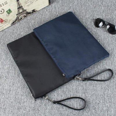 公事包男士牛津紡A4夾包文件信封包男手抓大容量商務辦公休閒手拿包