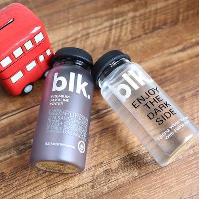 BLK 玻璃水瓶 創意 情侶款 透明 水瓶 冷水壺 簡約 磨砂水瓶 . 【RS783】