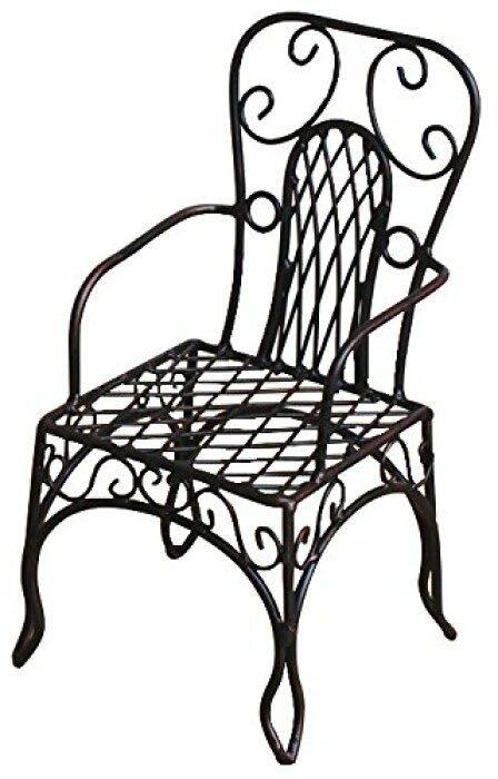 鐵椅花器擺示