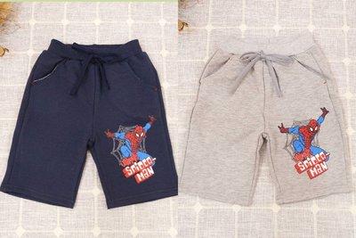 小蜜桃精緻童裝衣舖**B050203蜘蛛人棉質短褲共兩色特價100元可面交
