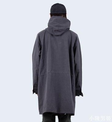 韓國代購19ss washing hood long jacket 水洗混棉連帽長款夾克 低價 批發