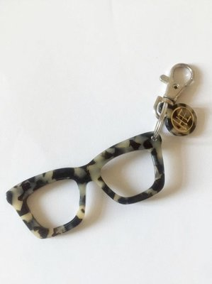 全新 Hachill Glasses Key Holder Bag Charm 眼鏡鎖匙扣 掛飾