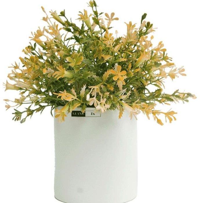 北歐仿真植物盆景家居客廳擺件裝飾品小清新盆栽花卉仿真假花套裝