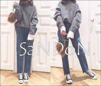 SaNDoN x 『MILA OWEN』大推薦 直線條顯瘦筆直流蘇刷色直筒牛仔褲 SLY SNIDEL 170707