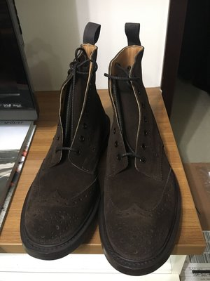 Tricker's Trickers Stow suede boots UK 10 全新品 雕花 牛津鞋 英國製 巧克力