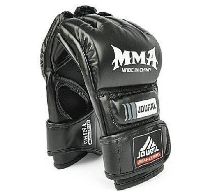 【易發生活館】九段龍拳擊手套 半指MMA拳套UFC散打手套打沙袋專業搏擊拳套 運動、健身 運動用品