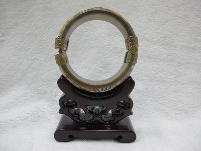二手舖~ NO.111 骨雕手環 手鐲 玉環 早期收藏 老件古董