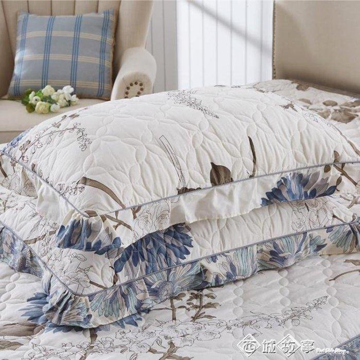 枕套純棉夾棉加厚一對裝枕芯枕頭套全棉大號成人100%單人用罩枕皮