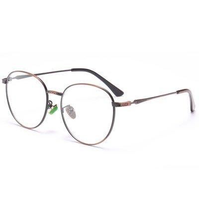 眼鏡 框 圓框 鏡架-細邊復古文藝氣質男女平光眼鏡5色73oe67[獨家進口][米蘭精品]