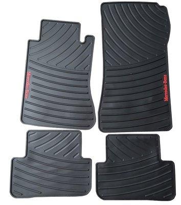 【跑車極簡 運動展現】賓士W205/C300/C180/C250/C200 專用橡膠腳踏墊