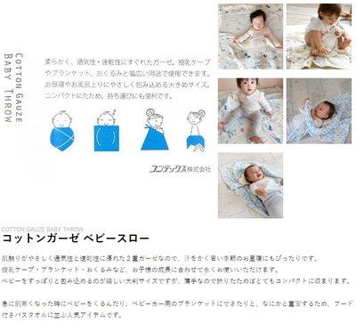 FZB 012 預購 KONTEX 日本製 BABY THROW 透氣速乾 二重紗  77 x 150cm 多用途長巾