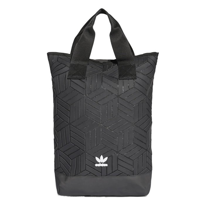【A-KAY0】ADIDAS 男女 3D BACKPACK BLACK 木紋 菱格紋 後背包 黑【DV0202】