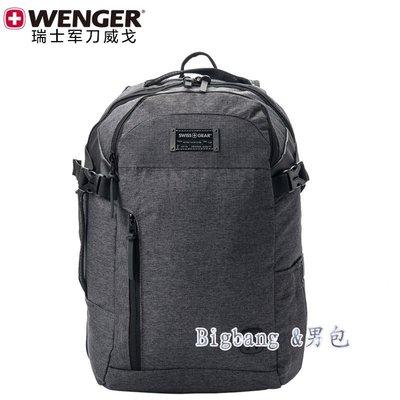 [bigbang&男包]BBHA.07新款後背包Wenger/威戈瑞士軍刀Swissgear學生書包14寸電腦背包雙肩包