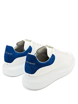[歐洲空運預購]  Alexander McQueen Raised-sole low-top 麥坤寶藍麂皮厚底增高鞋