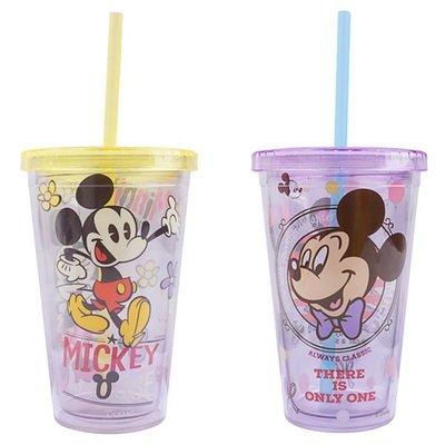 ♀高麗妹♀韓國 MICKEY MOUSE 米奇米妮 吸管杯 學習杯 冷水杯(預購)