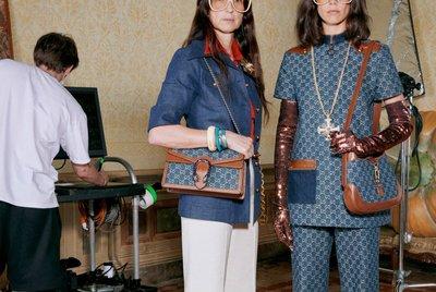 【代購】Gucci Jackie 1961  hobo 丹寧肩背包 手提包 側背包 賈姬包