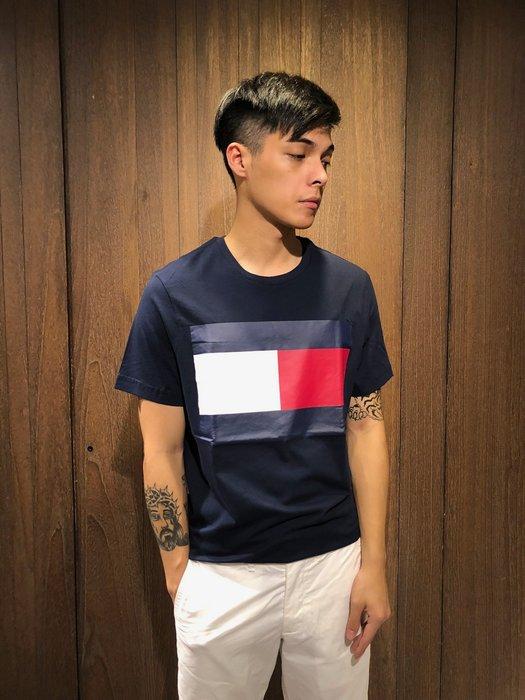 美國百分百【全新珍品】 Tommy Hilfiger T恤 TH 男衣 短袖 T-shirt 大LOGO 上衣 AK06
