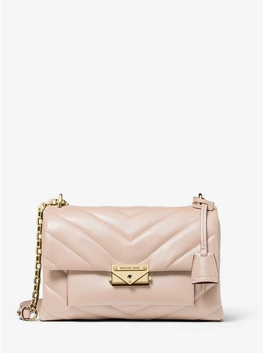 Coco 小舖Michael Kors Cece Medium Quilted Leather Bag 粉紅色肩/斜背包