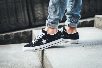 「Rush Kingdom」CONVERSE One Star Premium Suede 黑色 麂皮 158369C