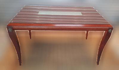 二手傢俱推薦【樂居二手家具館】F1018DJJC 歐式玻璃餐桌 二手桌椅 辦公桌 電腦桌書桌 台北桃園台中新竹苗栗餐桌椅