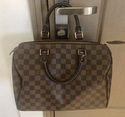 絕對真品 全新《lv Louis Vuitton》Speedy 30 Damier Monogram 醫生 手挽 手袋Handbag法國造,現款,市價$8700