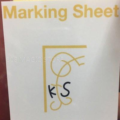 [808 MAGIC]魔術道具 Marking Sheet 記號牌印刷