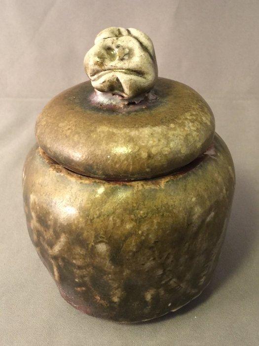 [裕山]陶&茶:土呆(劉瑞興)老師--柴燒茶倉td86(8.7*8.8*11.2公分)