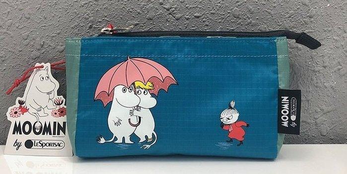 ♥ 小花日韓雜貨 ♥ -- Lesportsac 2873 可愛藍色魯魯米化妝包收納包筆袋