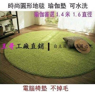 【王哥】超可愛絲毛絨圓形地毯 圓形地墊 電腦椅墊 臥室床邊地毯 多色可選 瑜珈地毯 房間
