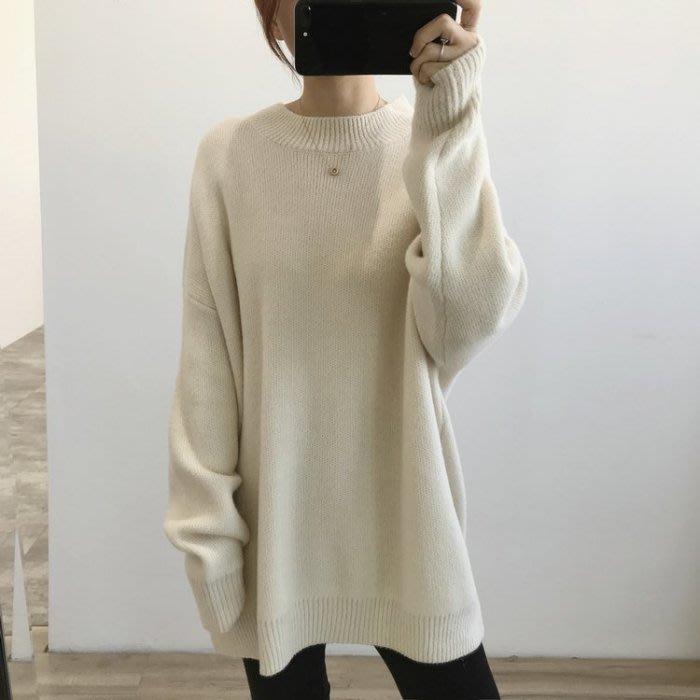 🌺拿鐵小姐MISS LATTE🌺 chic韓國單 好有氣質 毛絨半高領中長款毛衣 毛衣裙