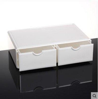 【優上】亞克力化妝品收納盒抽屜桌面收納盒韓國大號儲物盒「瓷白色1007-2」