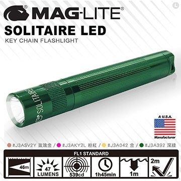 【angel 精品館 】 MAG-LITE Solitaire LED 手電筒J3A系列 / 新色 / 單色販售