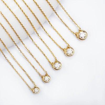 18k金幸運馬蹄鑽石項鍊 單鑽項鏈 agete tiffany 日本輕珠寶 情人節禮物 新年優惠