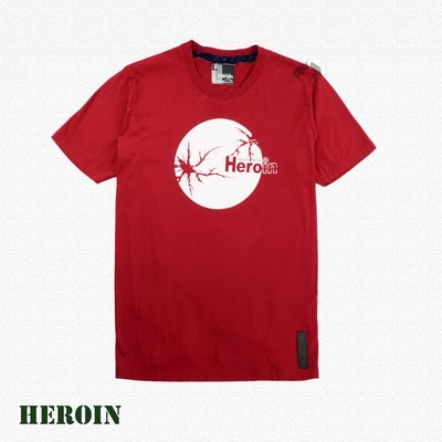 Heroin海洛因品牌 月亮圖樣 紅色 圖樣T ~阿法.伊恩納斯 文創 外銷歐美 不輸superdry 音樂祭 必備