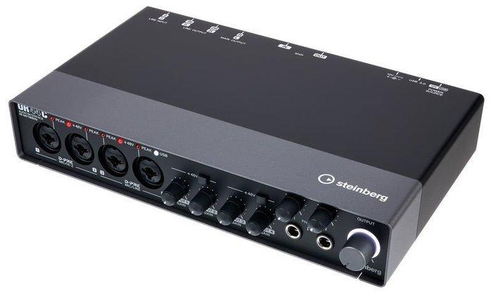 【六絃樂器】全新 Steinberg UR44C 錄音介面 錄音卡 / 工作站錄音室專業音響器材