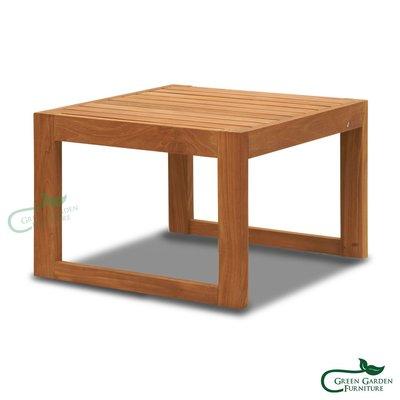 墨西哥 單層柚木邊桌-56【大綠地家具】100%印尼柚木實木/無上漆原木款/實木邊几/單層茶几/室內戶外兩用