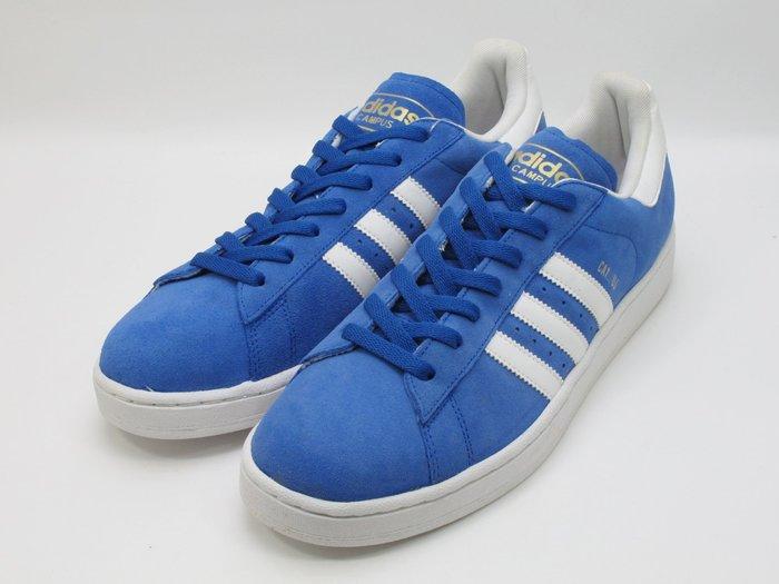 LOGO 金色字體掉字瑕疵 老鞋 復古風 2011 Adidas Campus II 2 正藍色 藍白 G22968