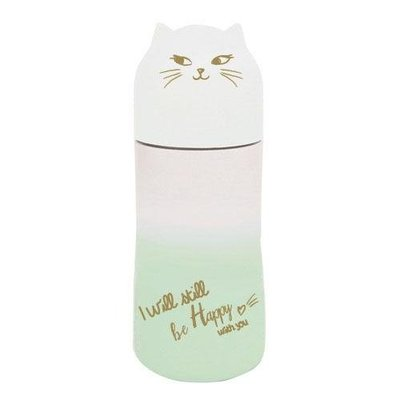 可愛貓咪造型不鏽鋼保溫瓶  貓頭杯口可穩放平面  方便攜帶 四季都實用  五款可選
