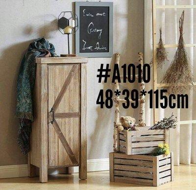 工業風格刷舊實木收納櫃  玄關櫃 置物櫃 loft 餐櫃 抽屜櫃 斗櫃 多款可購-- 美生活館 #A1010 單門收納櫃