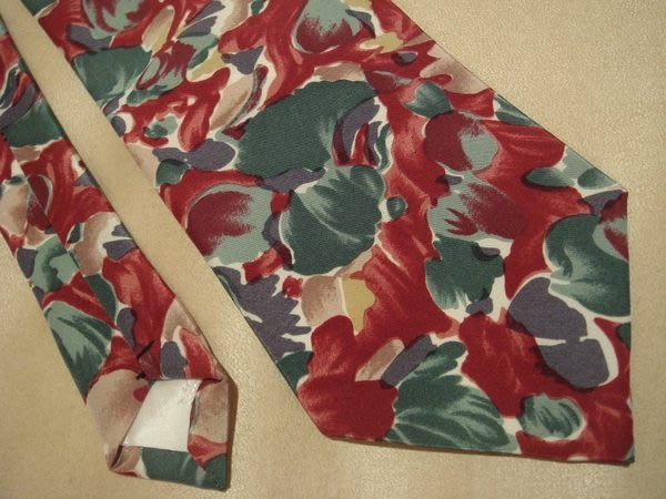 破盤清倉大降價!全新從未用過法國品牌 Motagut 紅花綠葉領帶,無包裝盒, 低價起標無底價!本商品免運費!