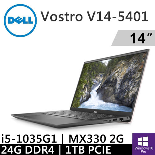 DELL Vostro V14-5401-R1628PTWSP2 灰玫瑰(i5-1035G1/24G/1TB PCIE