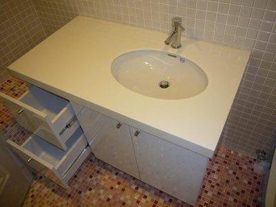 *美麗櫥*浴櫃~高雅人造石檯面110公...