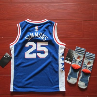 美國NBA官網正品 費城76人西蒙斯 Simmons 新版 NIKE 兒童球衣小童寶寶恩比德Joel Embiid