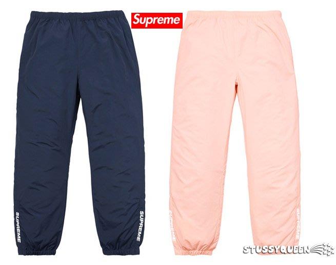 【超搶手】全新正品 2017 Supreme Warm Up Pant 字體LOGO風褲縮口褲 黑色L深藍M桃色M