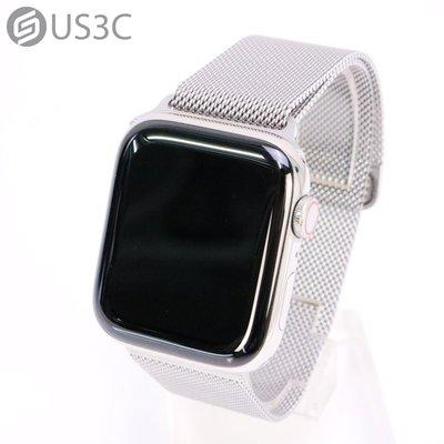 【US3C-小南門店】台灣公司貨 Apple Watch 6 44mm GPS+LTE 行動網路 銀色不鏽鋼錶殼 銀色米蘭錶帶 智慧穿戴裝置 原廠保固內