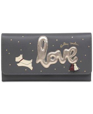 Coco小舖 英國品牌 Radley London Love is in the Air  深灰色長夾