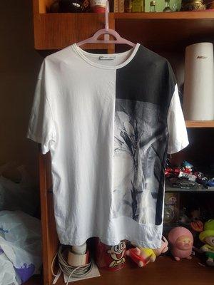 ZARA拼色短袖照片T恤/T-shirt (S)